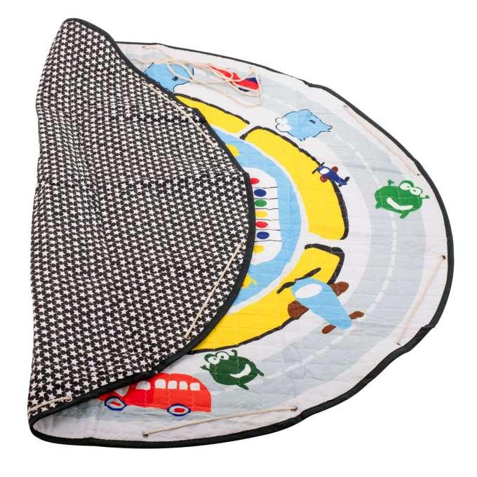 Mata dywan dla dziecka okrągła ulica 144cm