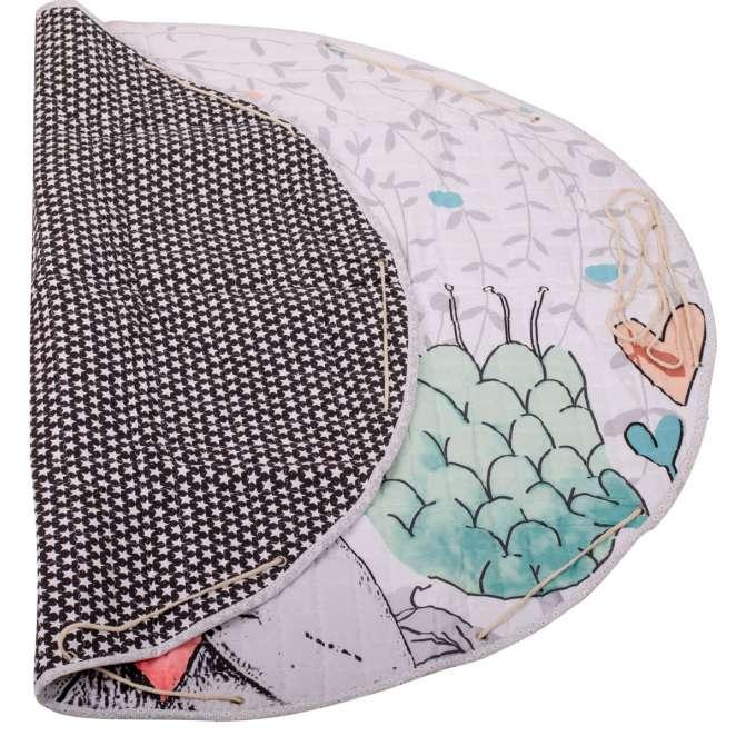 Mata dywan dla dziecka okrągła króliczek 144cm