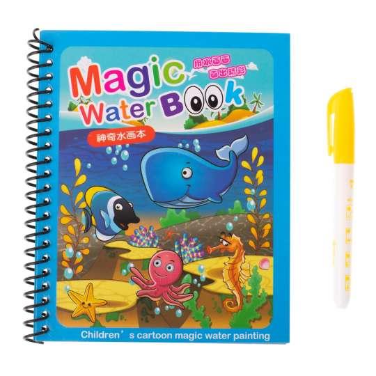 Książeczka wodna z mazakiem niebieska