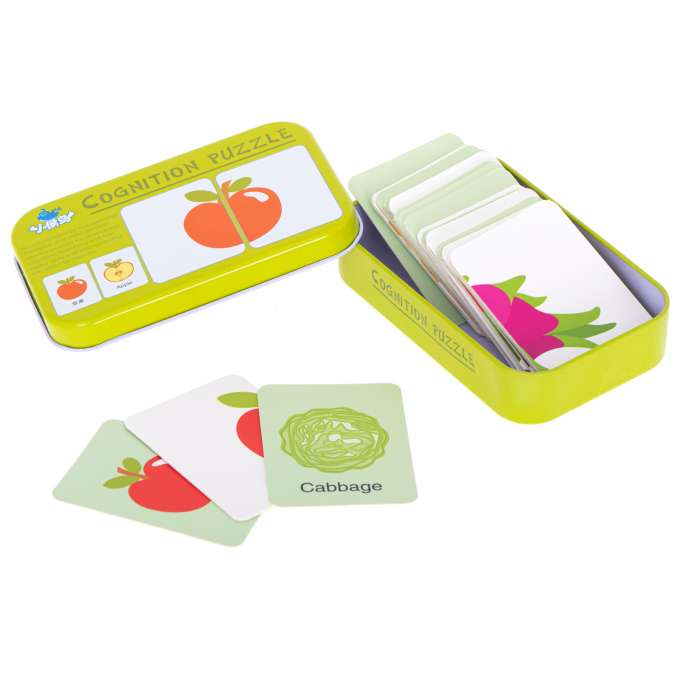 Układanka obrazkowa puzzle w puszce warzywa/owoce
