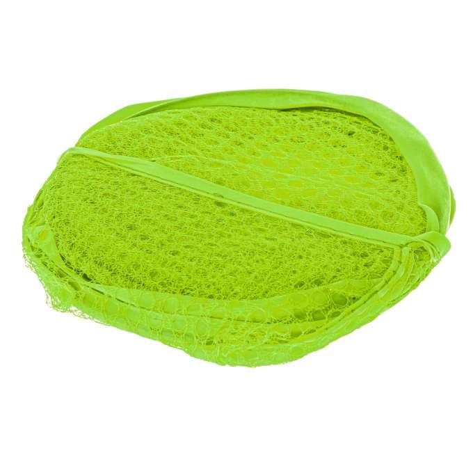 Kosz na bieliznę zabawki z siatki składany zielony